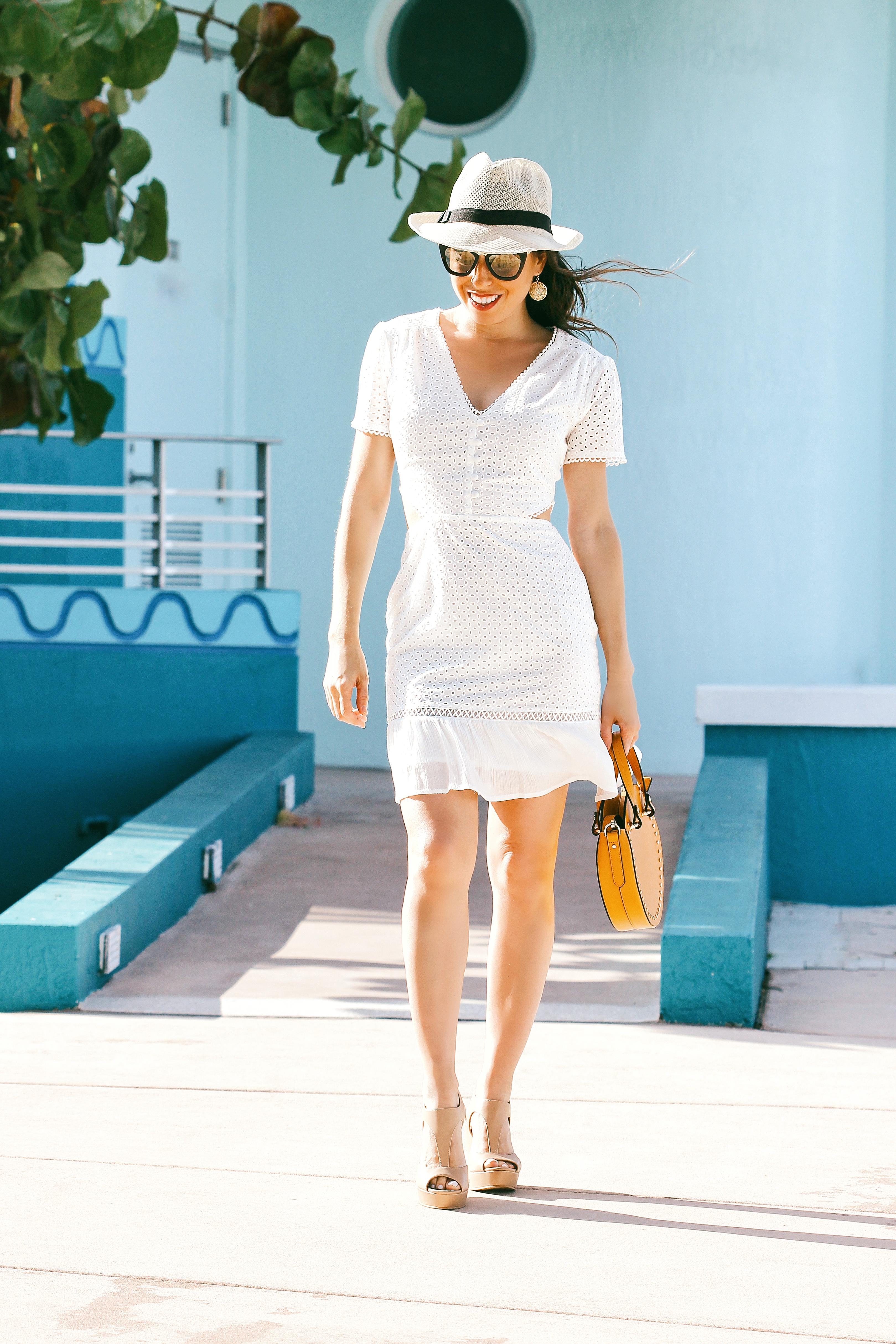 white eyelet dress midi dress white eyelet