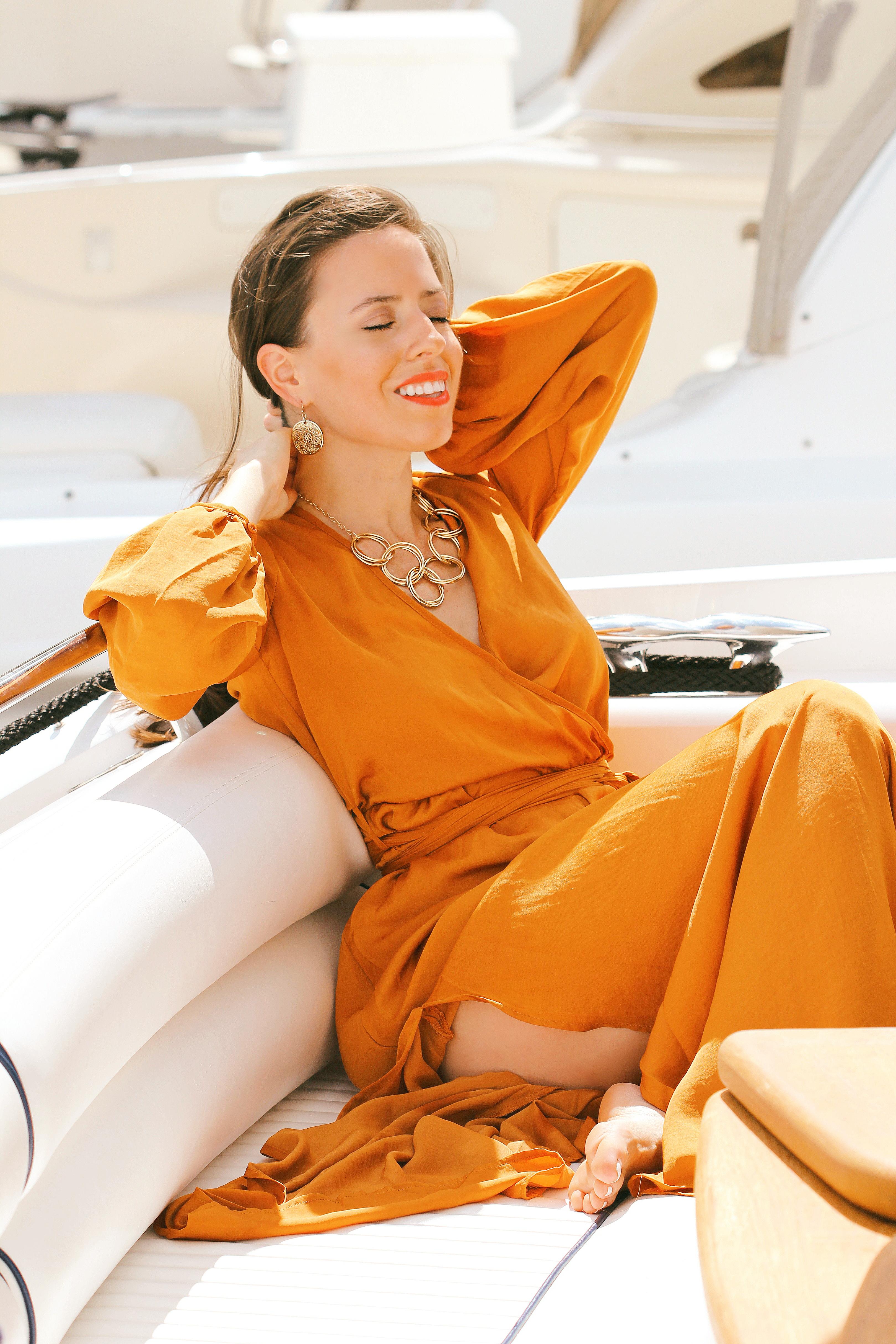 belted maxi dress ana florentina fashion blog