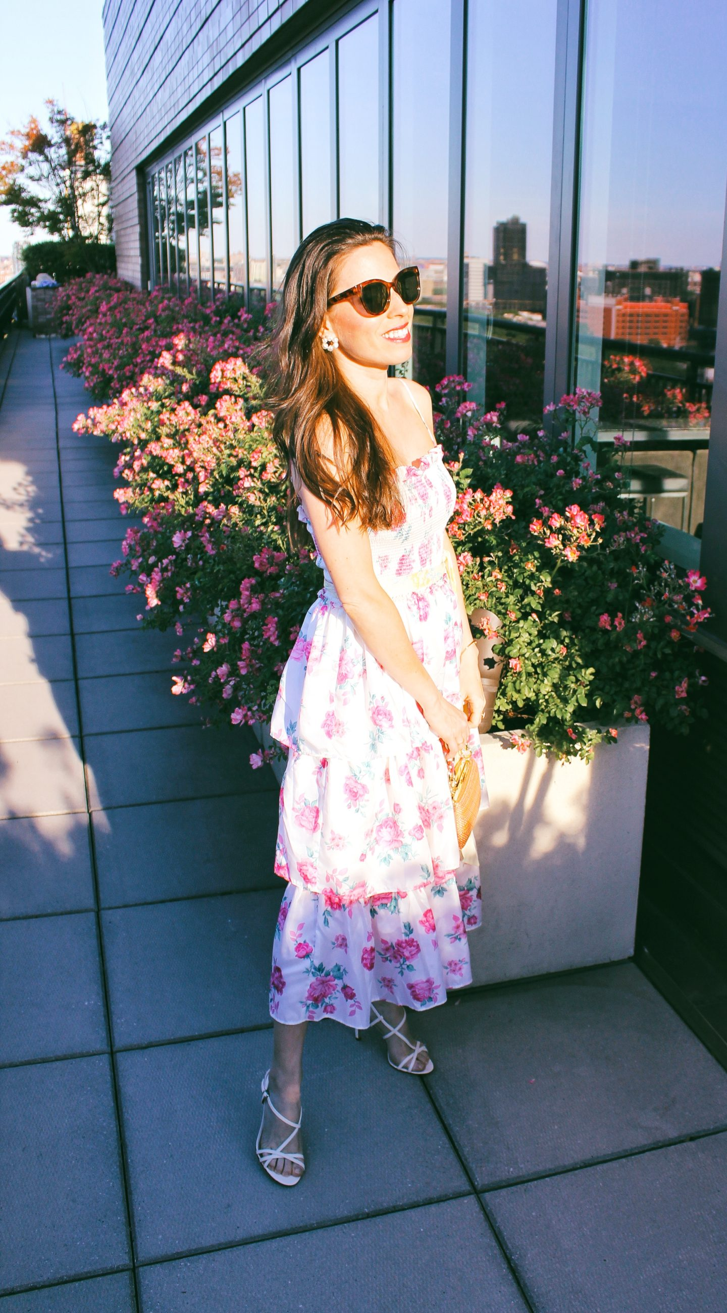 love shack fancy for targe floral dress