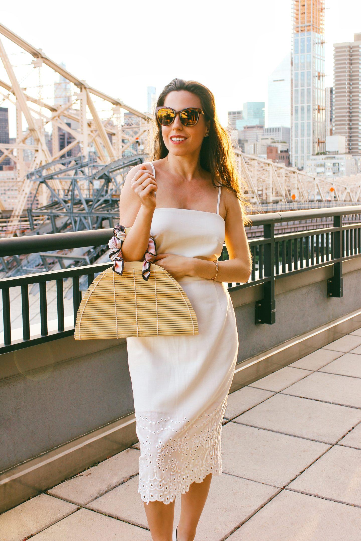 anaflorentyna white linen dress