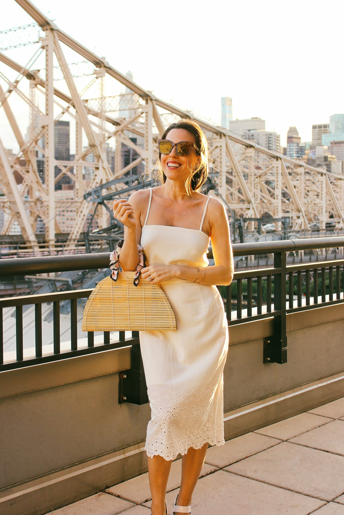 white linen dress for a bride to be