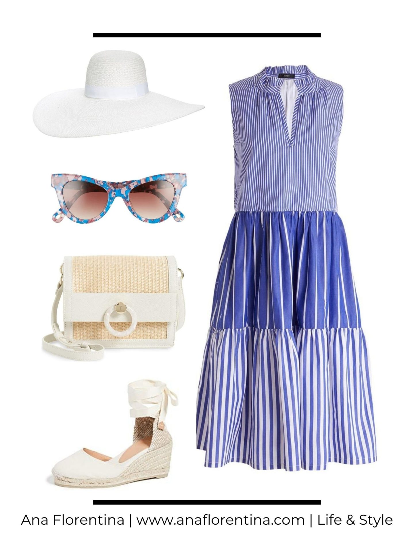 shop-the-look-blue-striped-dress-white-straw-hat
