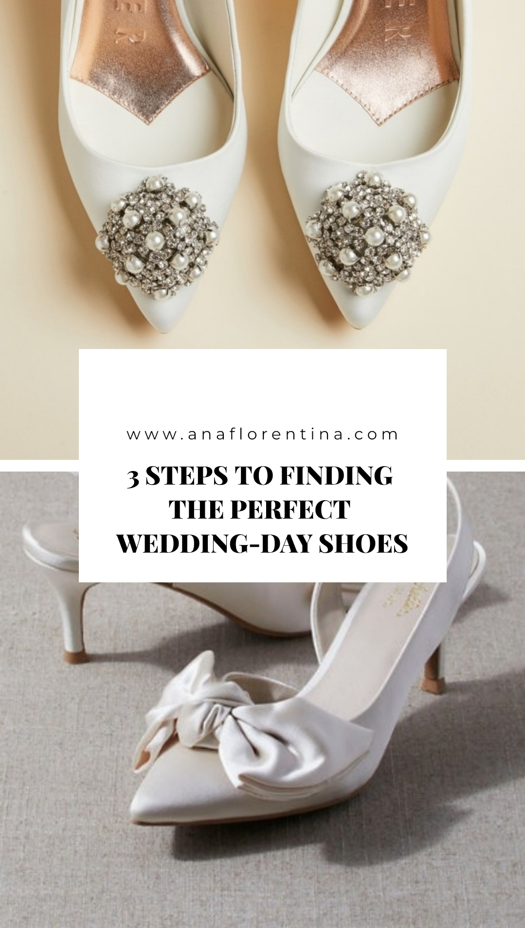 3 steps to finding the perfect wedding day shoes