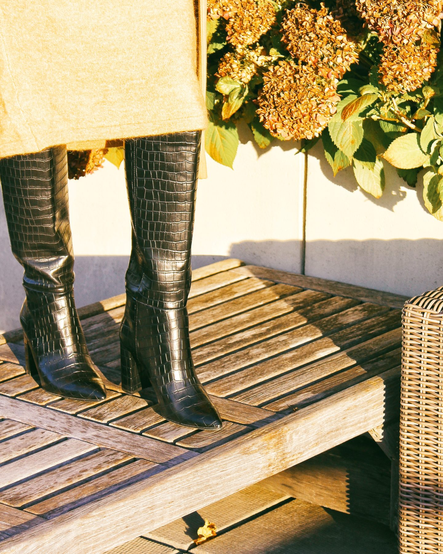 crocodile patterned boots