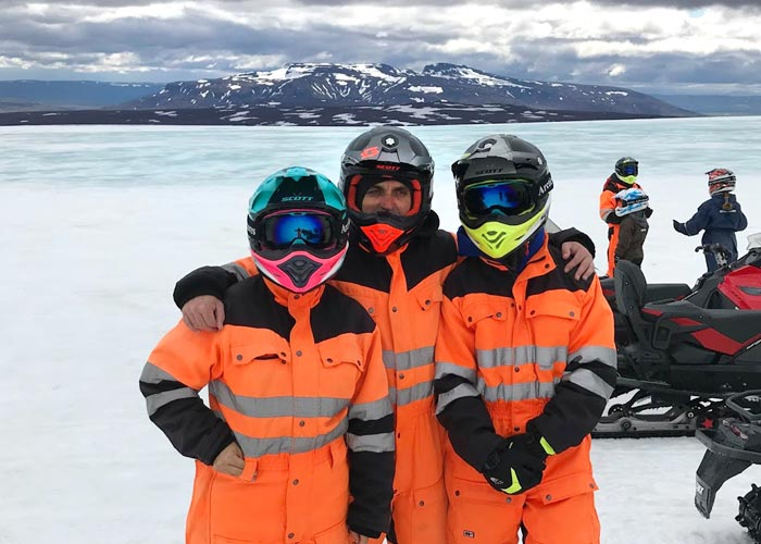 Eduard with family in Iceland