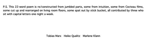 Short text describing the origin of the poem