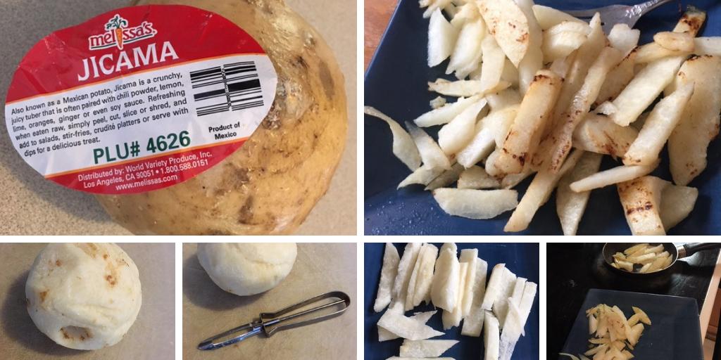 how to peel and prepare jicama