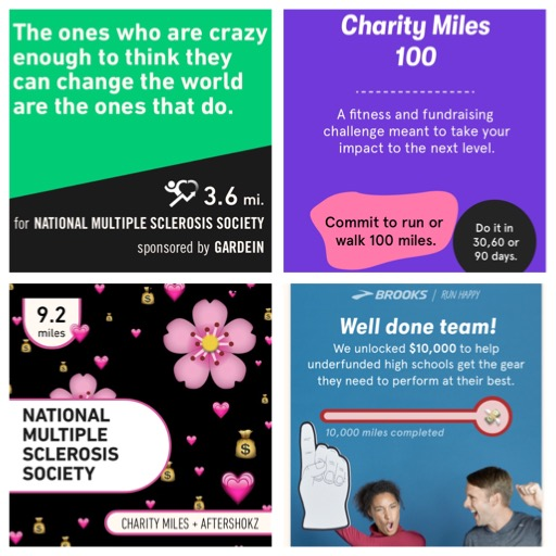 charity miles helps me get motivation in winter