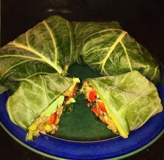 collard greens wrap veggie challenge