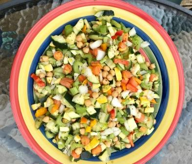potluck salad with lots of vegetables on Easter