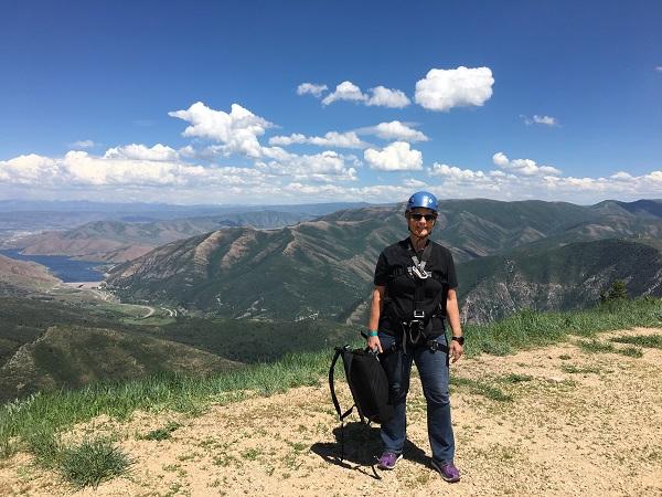 Meeting new challenges zip lining in Utah