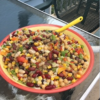 Beans and Vegetable Reunion Salad