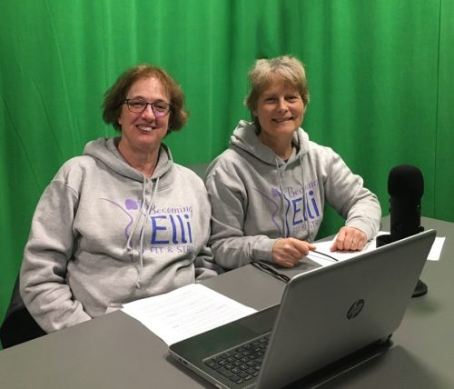 Best Podcasts of 2019 for Women Over 50 Jill and Chris in Becoming Elli sweatshirt