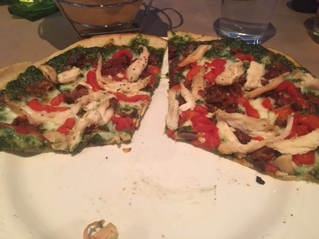 pizza with roasted red peppers