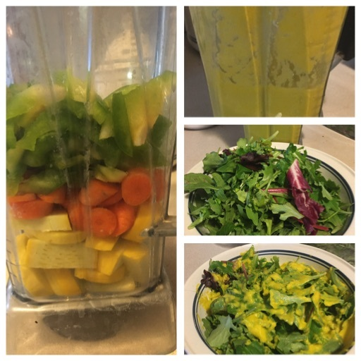 Salad with Veggie Blender Dressing