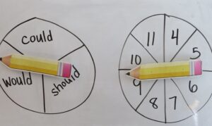 make writing active and fun by spinning vocabulary