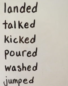 list of past verbs that end in ED