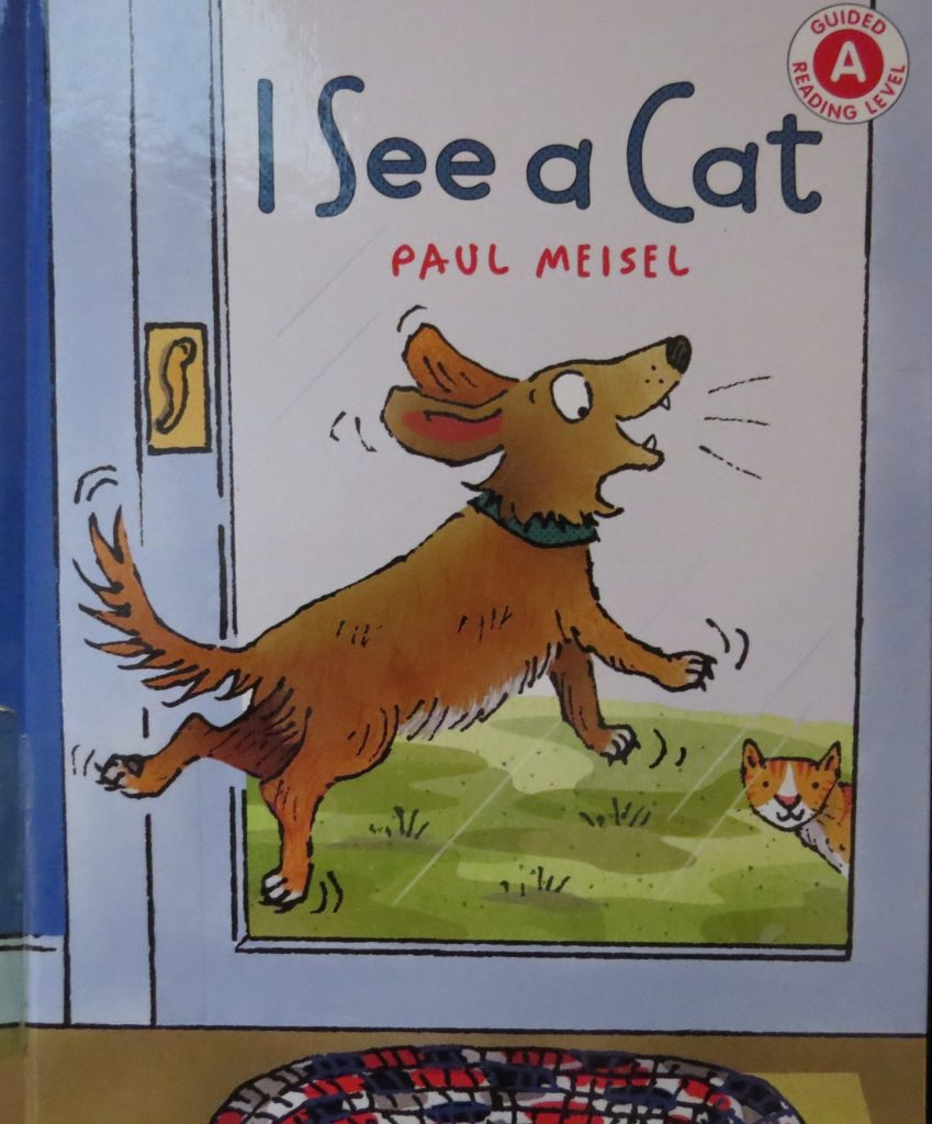 Book titled, I See A Cat