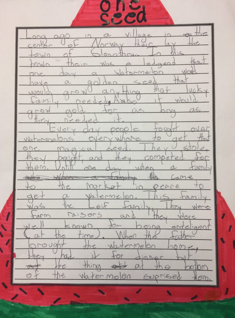 watermelon writing prompt, Fairy Tale-Sample 2