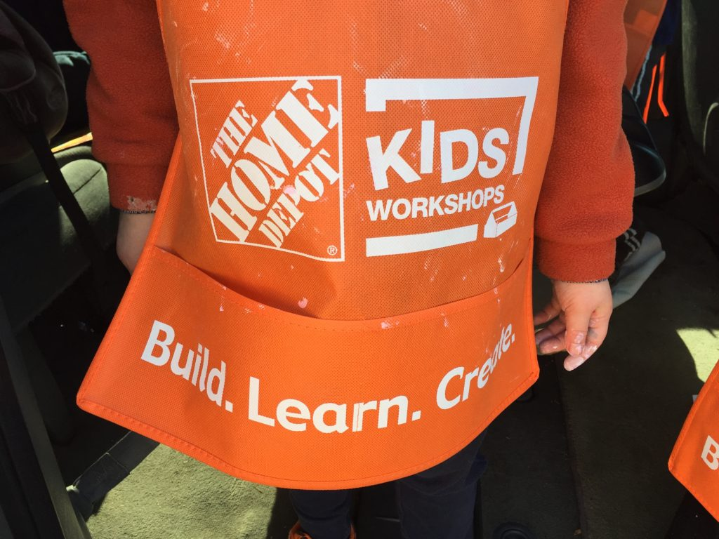 Home Depot child's apron