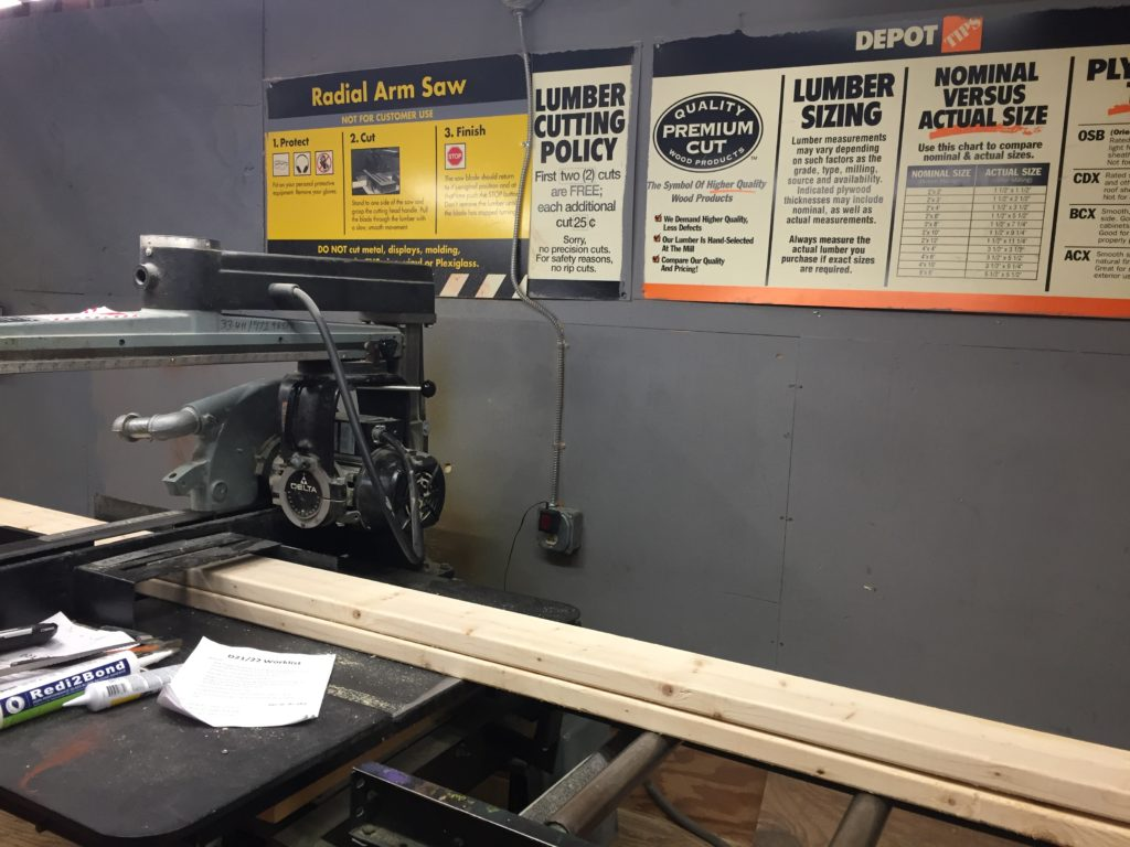 The saw at Home Depot