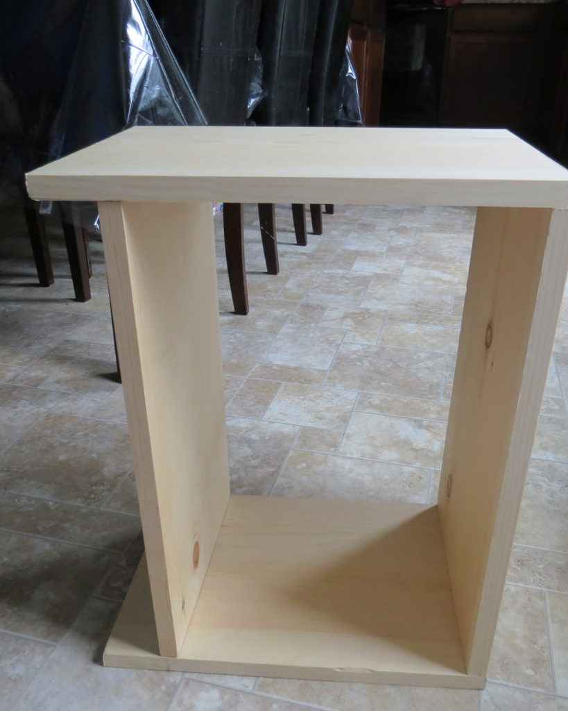 4 pieces of wood, the top, bottom and two sides