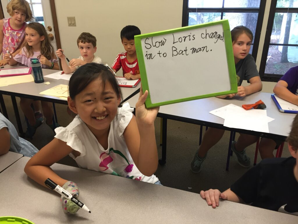 Write silly sentences about science fiction