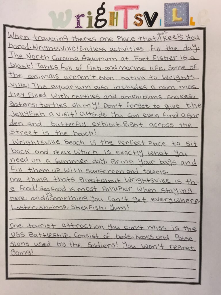 Persuasive Writing-You've got to visit Wrightsville Beach!