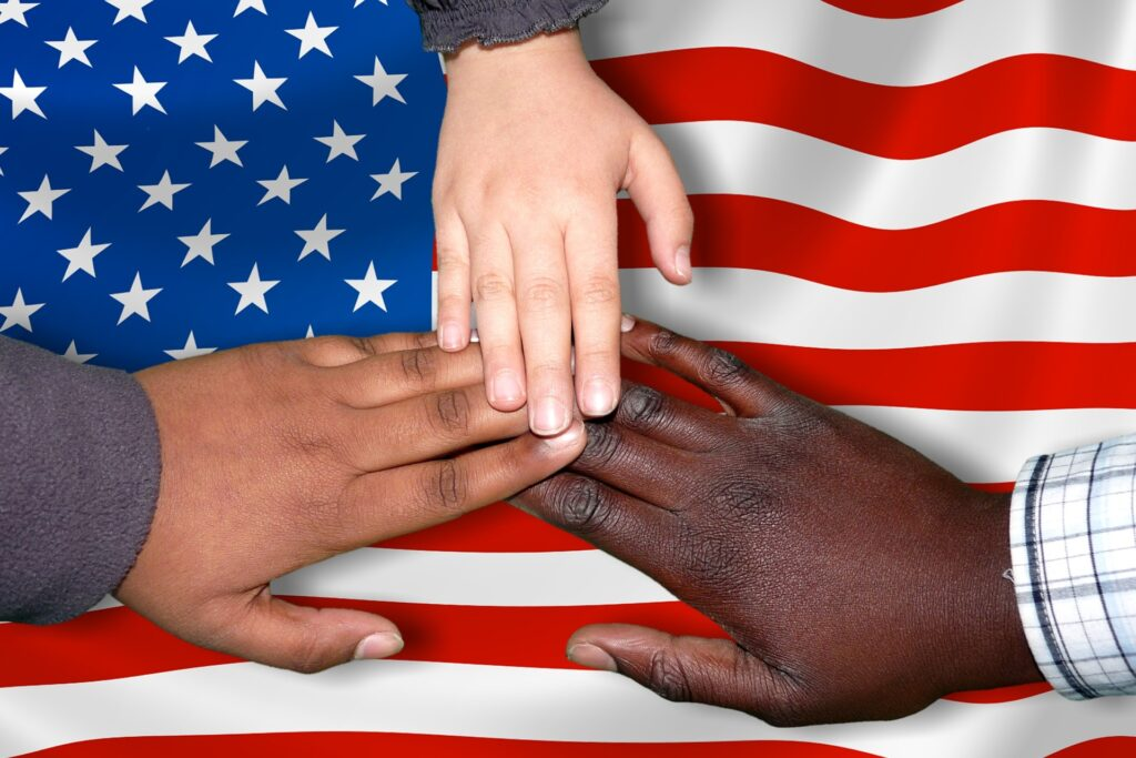 African, Hispanic and White Americans