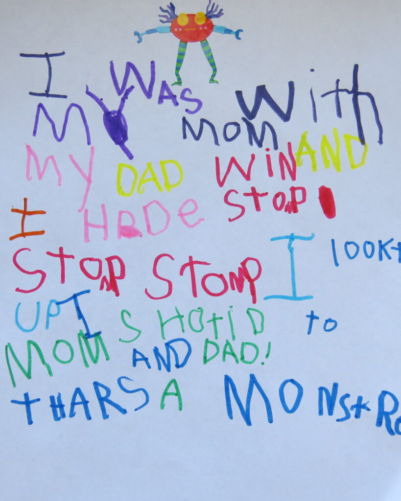 Spelling sight words in a story