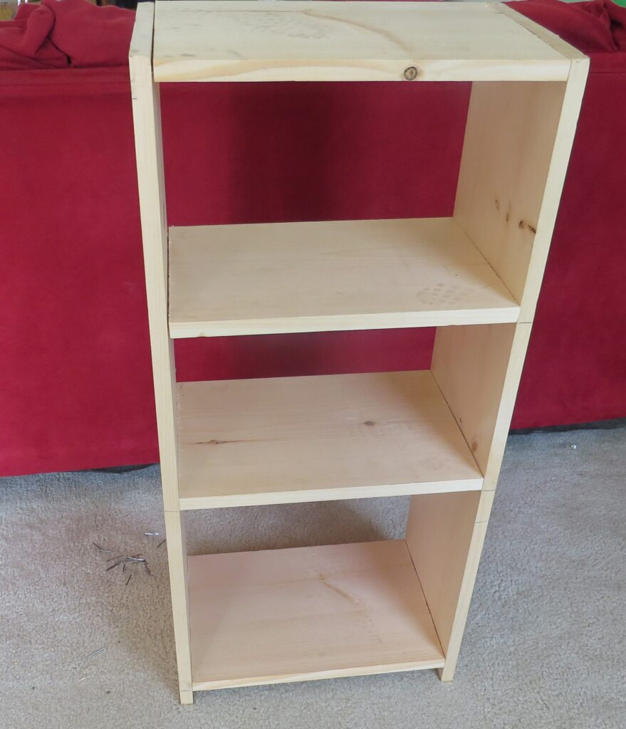 screen free activities, build a 4 tier shelf