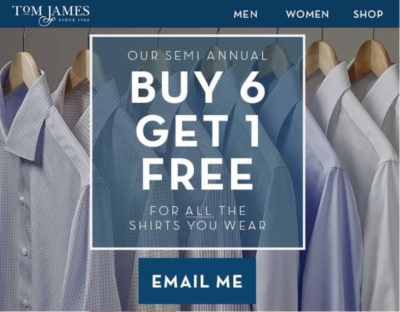 Tom James Custom Shirt Promotion Bespoke Erik Eric Peterson Petersen