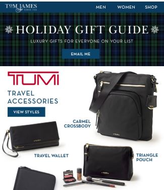 erik peterson holiday gift guide 2019 tumi luggage