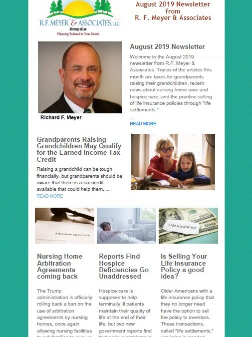 August client newsletter released