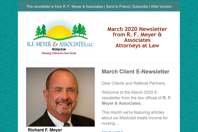 Meyer associates, March 2020 Newsletter