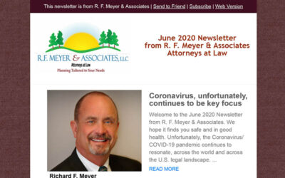 June newsletter released: Coronavirus, unfortunately, still key focus