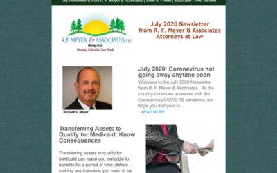 July 2020: Coronavirus not going away anytime soon