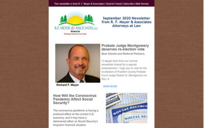 September newsletter released; Montgomery endorsed for re-election