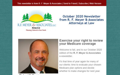 Our October 2020 client newsletter is now available