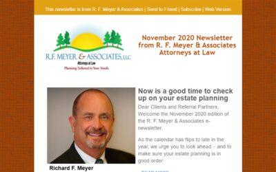 Newsletter urges estate planning checkup