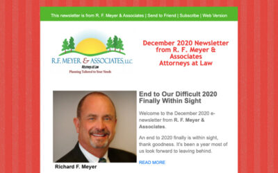 Newsletter released; End to difficult 2020 finally within sight