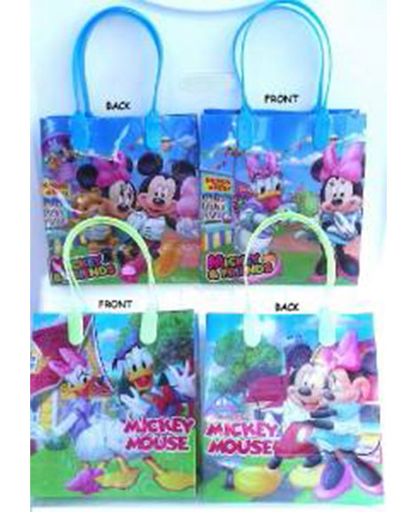 Mickey And Friends Plastic Gift Bags with Handles