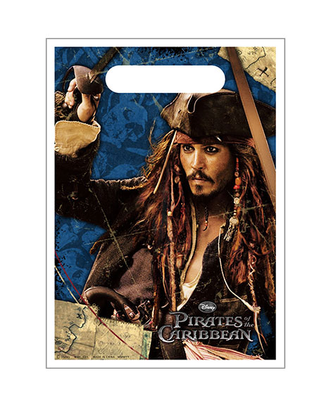 Pirates of the Caribbean 4 Party Favor Treat Bags
