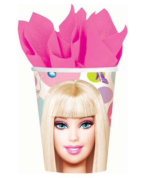 Barbie All Dolled Up 9 oz Paper Cups
