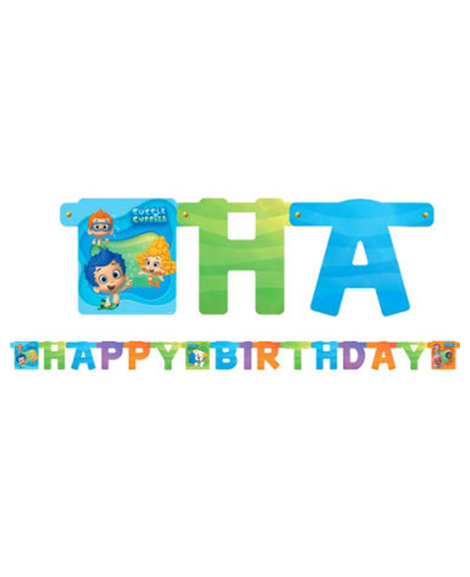 Bubble Guppies Happy Birthday Jointed Banner