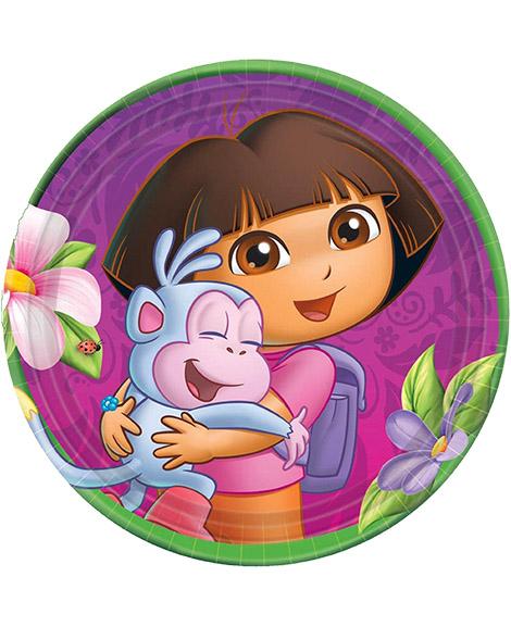 Dora Flower Adventure Dessert Plates