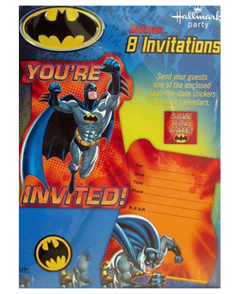 Batman Heroes and Villains Save The Date Invitations