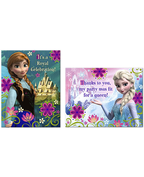 Disney Frozen Party Invitations and Thank You Combo
