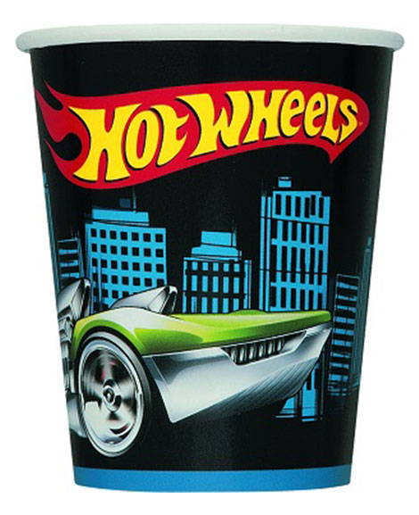 Hot Wheels Unique 9 oz Paper Cups