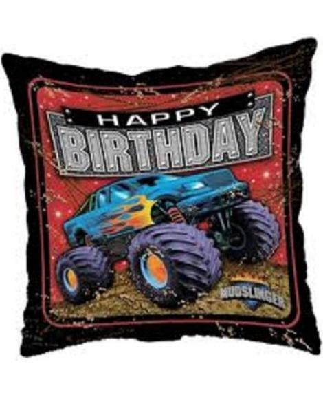 Mudslinger Monster Truck 18 Inch Square Foil Mylar Balloon